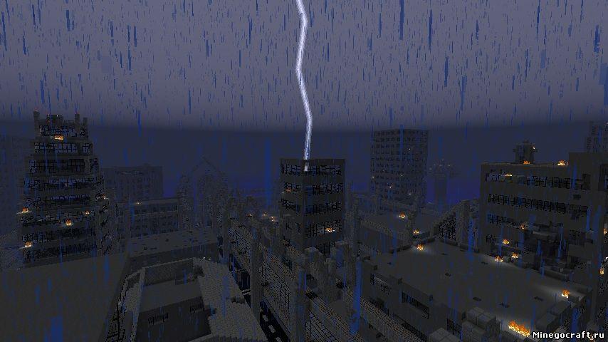 Карта зомби апокалипсис для Майнкрафт 1.6.4