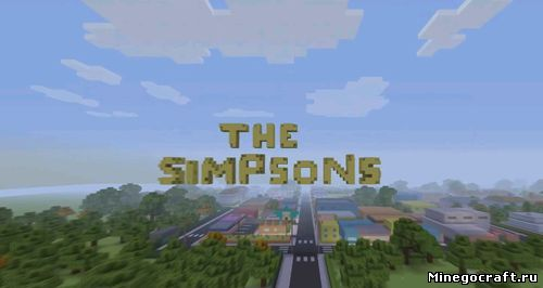 Заставка Симпсонов в Minecraft